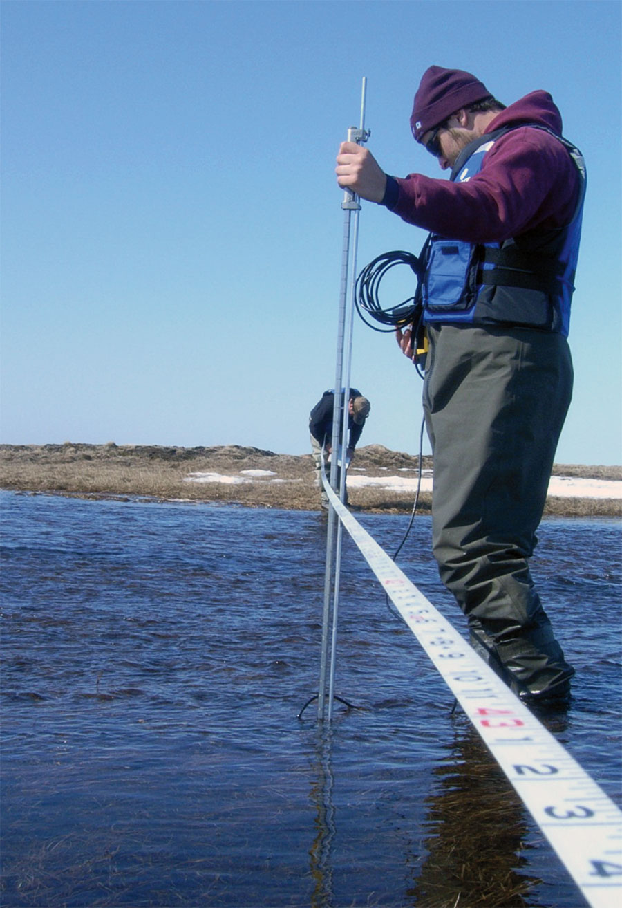 The timing and magnitude of spring breakup flooding on the rivers and streams in the Arctic are important considerations in the design and operation of structures in the area.