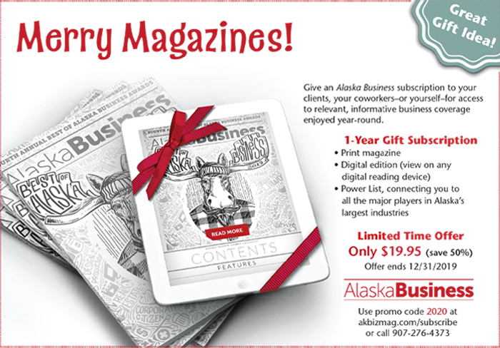 AlaskaBusiness Merry Magazines Advertisement