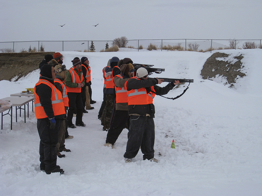 Fairweather bear guards participating in a skills check and training class