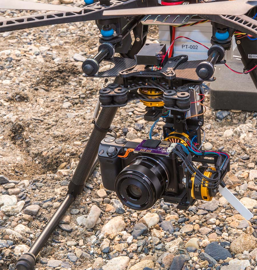 Cameras mounted to unmanned aerial vehicle