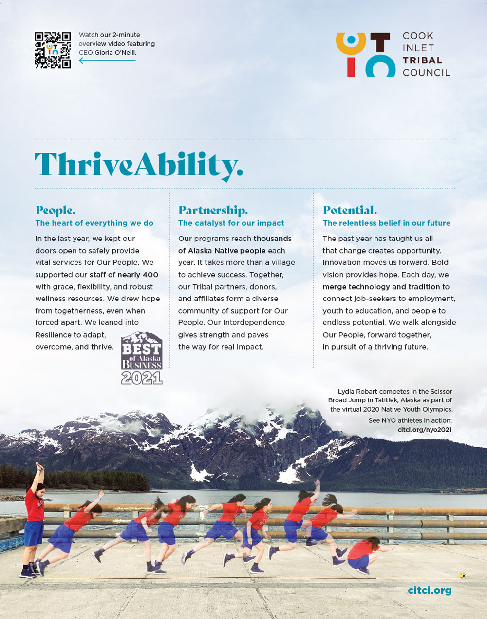 Cook Inlet Tribal Council Advertisement